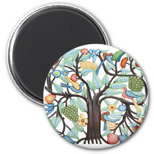 TREE of LIFE pastel 2 Inch Round Magnet