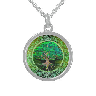 Tree of Life Patience Round Pendant Necklace