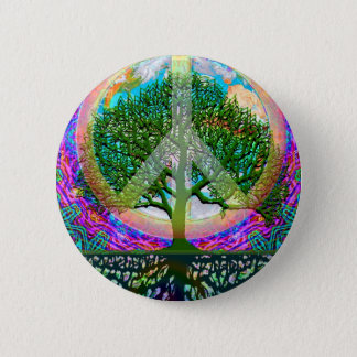 Tree of Life Peace Button