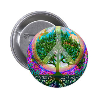 Tree of Life Peace 2 Inch Round Button