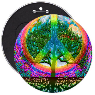 Tree of Life Peace Buttons