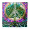 Tree of Life Peace Ceramic Tile (<em>$13.70</em>)
