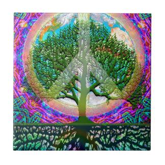 Tree of Life Peace Ceramic Tile