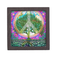 Tree of Life Peace Jewelry Box