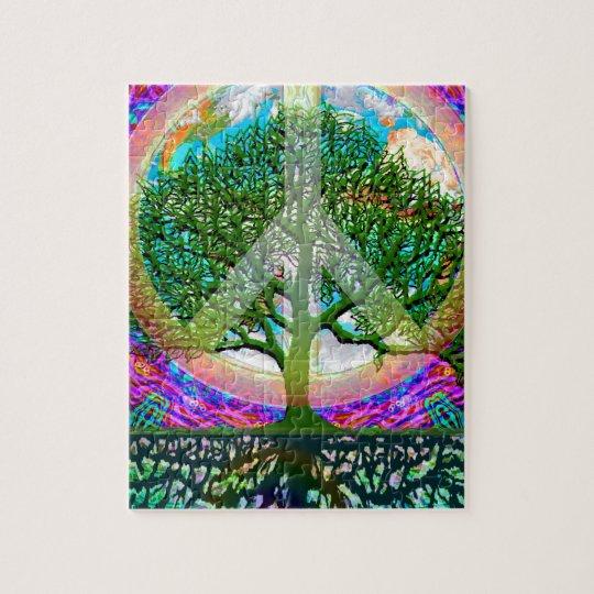 Tree of Life Peace Jigsaw Puzzle