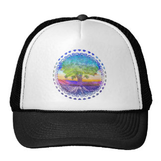 Tree of Life Peace, Love & Balance Trucker Hats