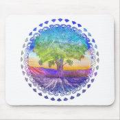 Tree of Life Peace, Love &amp; Balance Mouse Pad (<em>$11.60</em>)