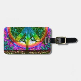 Tree of Life Peace Luggage Tag
