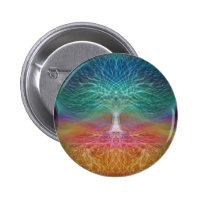 Tree of Life Peace of Mind Pinback Button