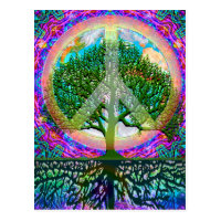 Tree of Life Peace Postcard