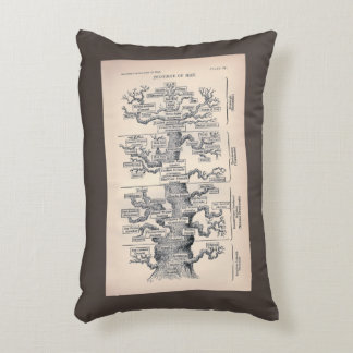 Tree Of Life / Pedigree Of Man Accent Pillow