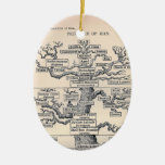 Tree Of Life / Pedigree Of Man Ceramic Ornament