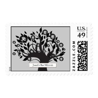 Tree of Life Personalized Bar Mitzvah Bat Mitzvah Postage Stamp