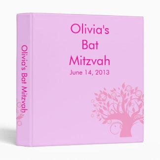 Tree of Life Pink Bat Mitzvah Organizing Binder