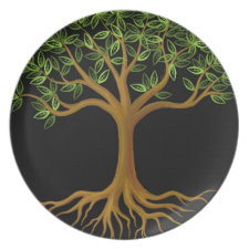 Tree of Life plate plate