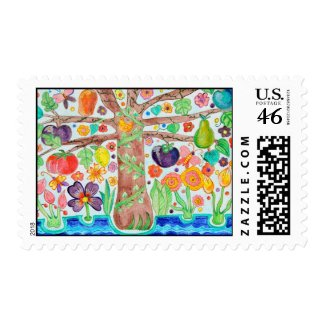 Tree of Life Postage Stamp stamp