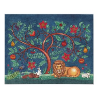 Tree of Life Poster ~ The Lion & the Lamb