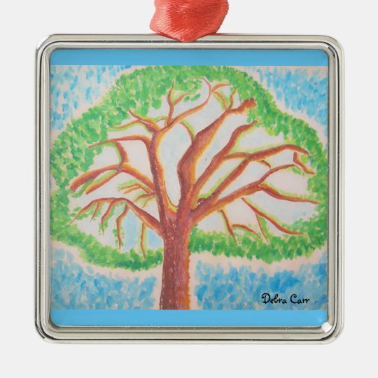 Tree of Life-prem square ornament
