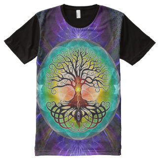 Tree of Life Print All-Over T-Shirt