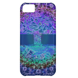 Tree of Life Purple Flowers Cover For iPhone 5C