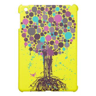 Tree of life Purple iPad Case - on Yellow