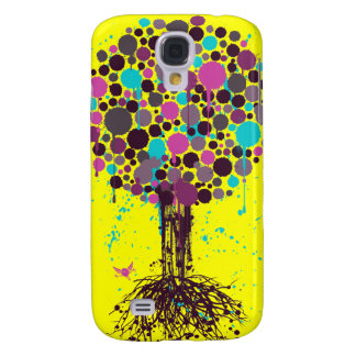 Tree of life Purple iPhone 3 Case - on Yellow