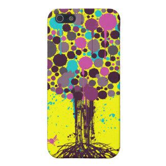 Tree of life Purple iPhone 4 Case - on Yellow