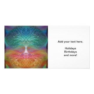 Tree of Life Rainbow Hearts Card