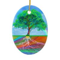 Tree of Life Rainbow Ornaments