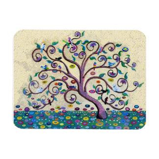 Tree of life rectangular photo magnet