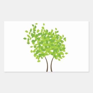 Tree of life rectangular sticker
