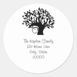 Tree of Life Return Address Envelope Seal Classic Round Sticker