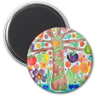 Tree of Life Round Magnet