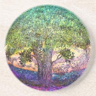Tree of Life Sandstone Coaster