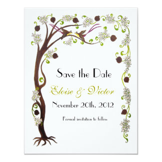 Tree of life Save the Date, vertical Card