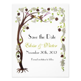 Tree of life Save the Date vertical Announcements