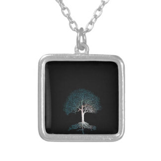 Tree of Life Silent Night Silver Plated Necklace