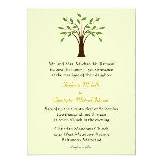 Tree of Life Simple Symbolic Unique Modern Wedding Card