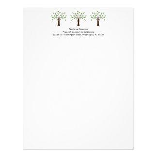 Tree of Life Simple Trees Nature Custom Business Letterhead