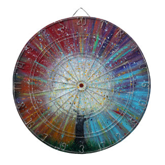 Tree of Life Springs Forth Abstract Art Dartboards