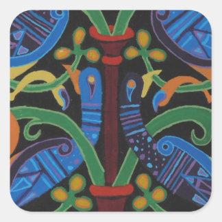 Tree of life square sticker