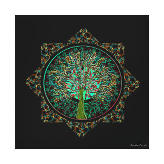 Tree of Life Star Gallery Wrapped Canvas