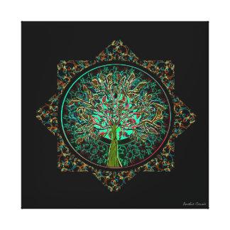 Tree of Life Star Canvas Print