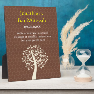 Tree of Life Star of David Bar-Bat Mitzvah Plaque