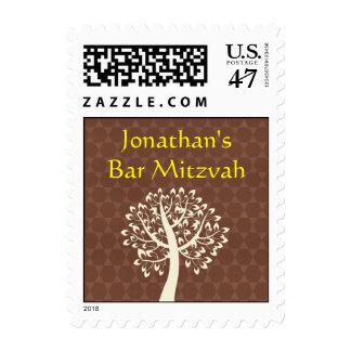 Tree of Life Star of David Bar-Bat Mitzvah Stamp