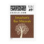 Tree of Life Star of David Bar-Bat Mitzvah Stamps