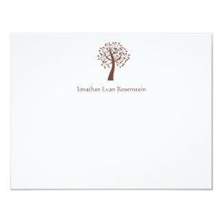 Tree of Life Star of David Bar-Bat Mitzvah Thanks 4.25x5.5 Paper Invitation Card