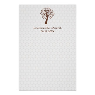 Tree of Life Star of David Pattern Sign-In Poster