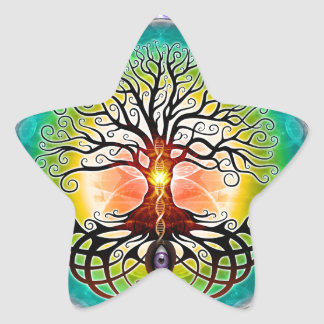 Tree Of Life Star Sticker