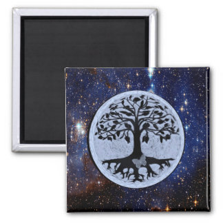 Tree of Life Stars 2 Inch Square Magnet
